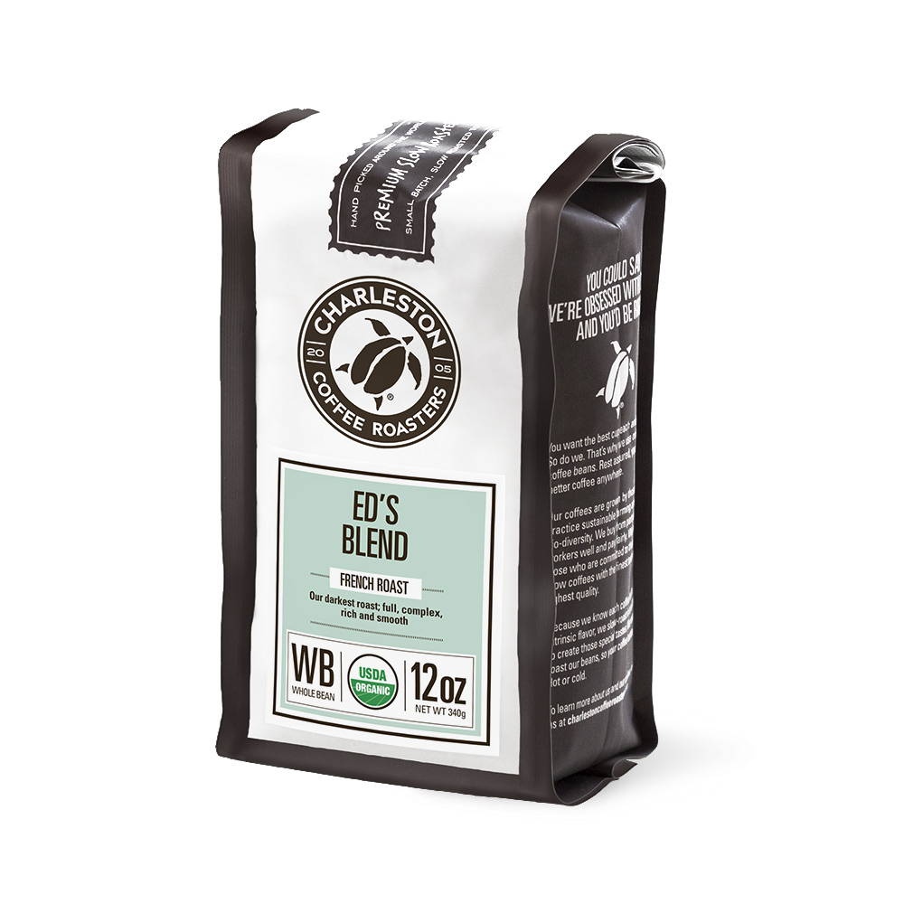 Charleston Coffee Roasters Ed's Blend Whole Bean Coffee (12 ounce Bag)