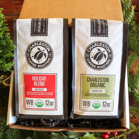 Charleston Coffee Roasters Gift Box - Two Bags of Whole Bean Coffee (12 ounce Bag)
