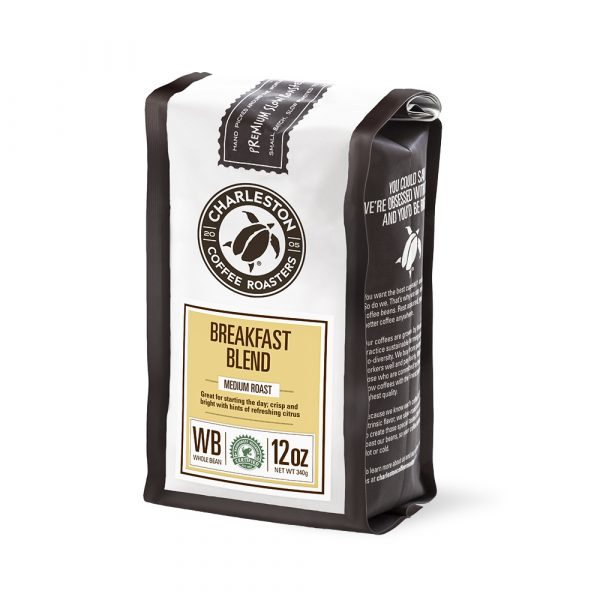 Charleston Coffee Roasters Breakfast Blend Whole Bean Coffee (12 ounce Bag)