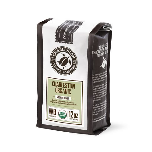 Charleston Coffee Roasters Charleston Blend Organic Whole Bean Coffee (12 ounce Bag)