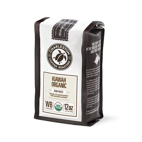 Charleston Coffee Roasters Organic Kiawah Blend Whole Bean Coffee (12 ounce Bag)