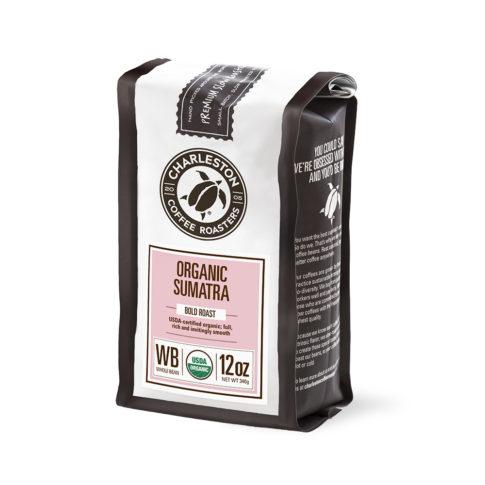 Charleston Coffee Roasters Organic Sumatra Whole Bean Coffee (12 ounce Bag)
