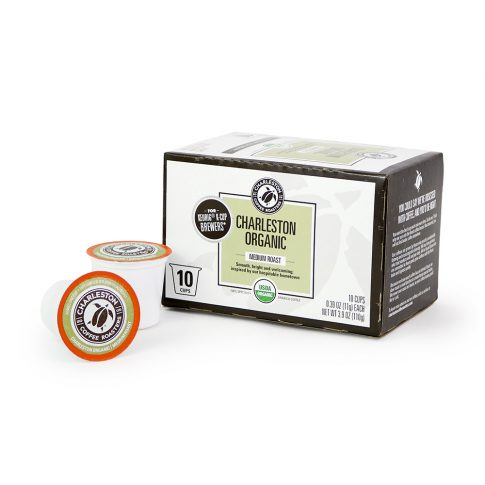 Charleston Coffee Roasters Charleston Organic K-Cup Single Serving (10 Cups)