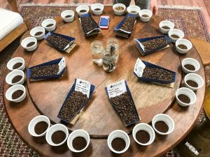 Charleston Coffee Roasters How We Taste Coffee - Cupping Table