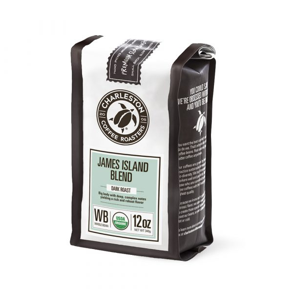Charleston Coffee Roasters James Island Blend Whole Bean Coffee (12 ounce Bag)