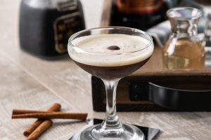 Charleston Coffee Roasters Mexican Cinnamon Coffee Martini in Coupe