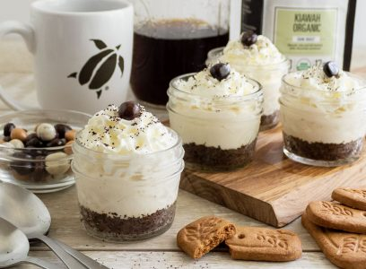 Charleston Coffee Roasters No Bake Coffee Cheesecake - Served in Individual Glass Jars
