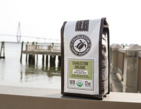 Charleston Coffee Roasters - Charleston Organic Blend - Bag with Ravenel Bridge